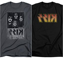 2 Pack Combo Kiss Rock Band Logo & Concert Classic Retro Vin