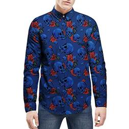 Alimao 2018 Autumn Mens 3D Fashion Star Printed Blouse Casua