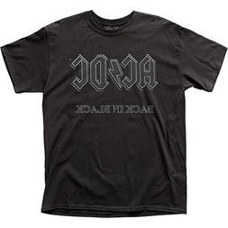 AC/DC - Back in Black Logo T-Shirt Size XXXL