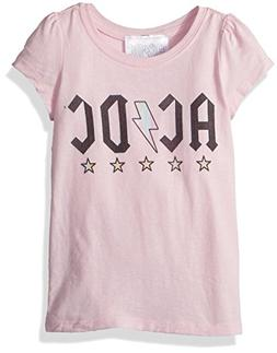 AC/DC Girls' Toddler ACDC Stars Short Sleeve T-Shirt, Light