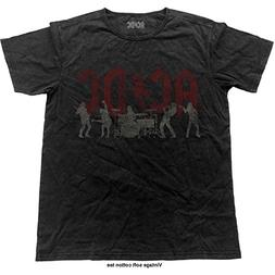 AC/DC T Shirt Band Logo Silhouettes Official Mens Vintage Fi