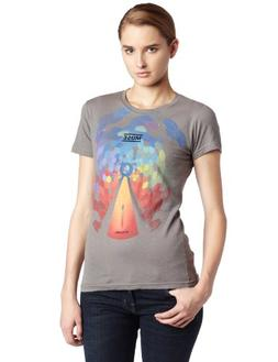 Bravado Juniors Muse Bleached Cover T-Shirt, Gray, Medium
