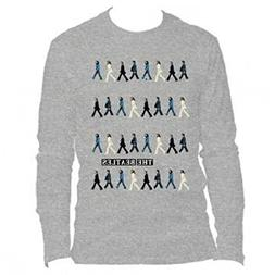 Bravado The Beatles - Abbey Road Repeat Long Sleeve Grey Cre