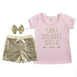 Bump and Beyond Designs Fourth Birthday Outfit Girl Four and