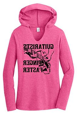 Comical Shirt Ladies Hoodie Shirt Guitarists Finger Faster F
