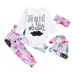 Coper Cute Outfits, 2018 Baby Girls Letter Cloud Print Tops+