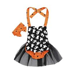 Coper Halloween Outfits, Newborn Baby Girls Printed Braces S
