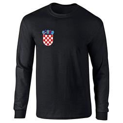 Croatia Soccer Retro National Team Black XL Long Sleeve T-Sh