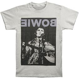 David Bowie - Acoustic Guitar Adult T-Shirt Small
