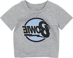 David Bowie Infant Baby Boys' Rock Band T-Shirt, Heather Gre