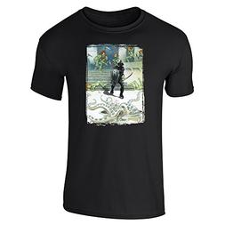 Death Dealer 7 by Frank Frazetta Art Black L Short Sleeve T-