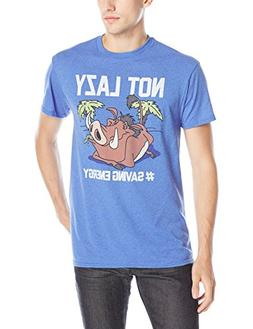 Disney Men's Lion King Not Lazy T-Shirt, Royal Heather, Smal