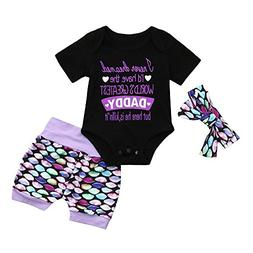 Euone Baby Outfit Summer Shirts, 0-4 Years Old Girls Daddy L