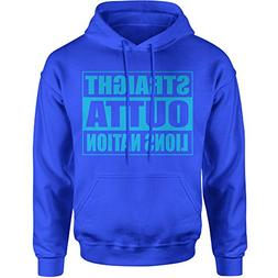 Expression Tees Hoodie Straight Outta Lions Nation Football