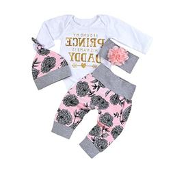 FEITONG Toddler Newborn Baby Girls Letter Rompers Jumpsuit F
