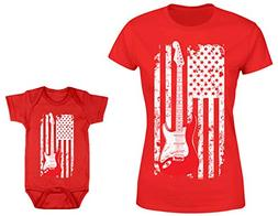 HAASE UNLIMITED Guitar American Flag 2-Pack Bodysuit & Ladie