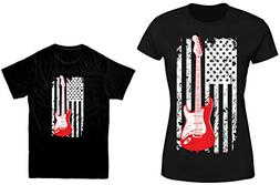 HAASE UNLIMITED Guitar American Flag 2-Pack Youth & Ladies T