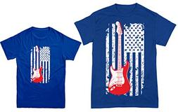 HAASE UNLIMITED Guitar American Flag 2-Pack Youth & Men's T-