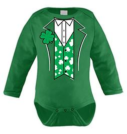 HAASE UNLIMITED Irish Tuxedo Infant Long Sleeve Bodysuit