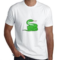 Hollywood Thread Cool Coiled Green Snake hissing Men's T-Shi