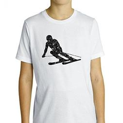 Hollywood Thread Downhill Skier Skiing Large Silhouette Awes