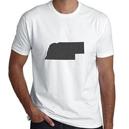 Hollywood Thread Nebraska Home State Silhouette 100% Men's C