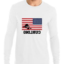 Hollywood Thread USA Olympic - Curling - Flag - Silhouette M