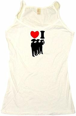 I Heart Love Mariachi Band Women's Babydoll Tee Shirt XL-Tan