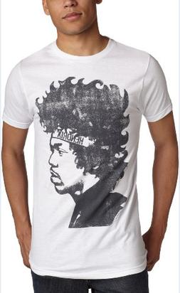 Impact Men's Jimi Hendrix Headband T-Shirt,White,Medium
