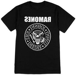 Impact Men's Ramones Presidential Seal T-Shirt, Black, Small