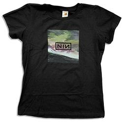 "Juniors Nine Inch Nails ""Wave Box"" Black Baby Doll T-Shirt"