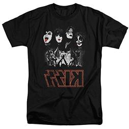 KISS Rock the House Rock Band Music Adult Mens Short Sleeve
