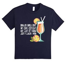 Kids Long Island Iced Tea Shirt Funny Cocktail Tee For Men 1