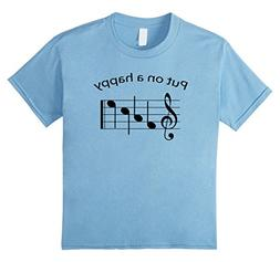 Kids Put on a Happy FACE Music Notes T Shirt Band, Choir Clo
