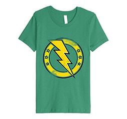 Kids ThunderBolt Lightning Circle Stars Logo Classic Band Sh