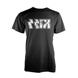 Kiss T Shirt Vintage Distressed Band Logo Official Mens Blac