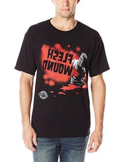 Liquid Blue Men's Monty Python Flesh Wound T-Shirt, Black, X