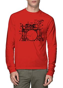 Long Sleeve Men's Anatomy of A Drumset Shirt