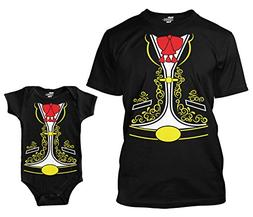 Mariachi Costume Matching Bodysuit & Men's T-Shirt