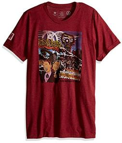 NEFF Men's Aerosmith Tri Blend Tee Shirt, Cardinal, Large