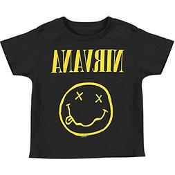 Nirvana - Smile Toddler T-Shirt - 3T Black