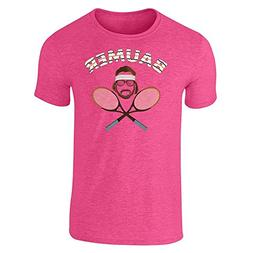 Pop Threads Baumer Richie Tennebaum Tennis Heather Pink 3XL