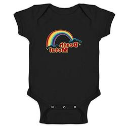 Pop Threads Death Metal Retro Rainbow Black 6M Infant Bodysu