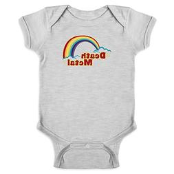 Pop Threads Death Metal Retro Rainbow Gray 6M Infant Bodysui