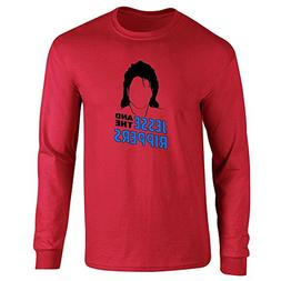Pop Threads Jesse and The Rippers Band Red L Long Sleeve T-S