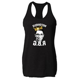 Pop Threads Notorious R.B.G. Funny Black 2XL Womens Tank Top