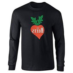 Pop Threads The Beets Band Logo Black XL Long Sleeve T-Shirt