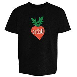 Pop Threads The Beets Band Logo Black M Youth Short Sleeve T