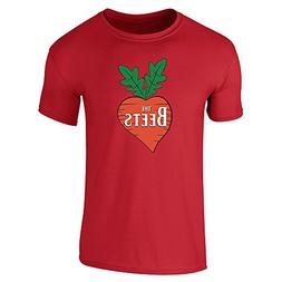 The Beets Band Logo Red 2XL Short Sleeve T-Shirt