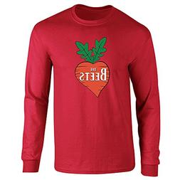 Pop Threads The Beets Band Logo Red 3XL Long Sleeve T-Shirt